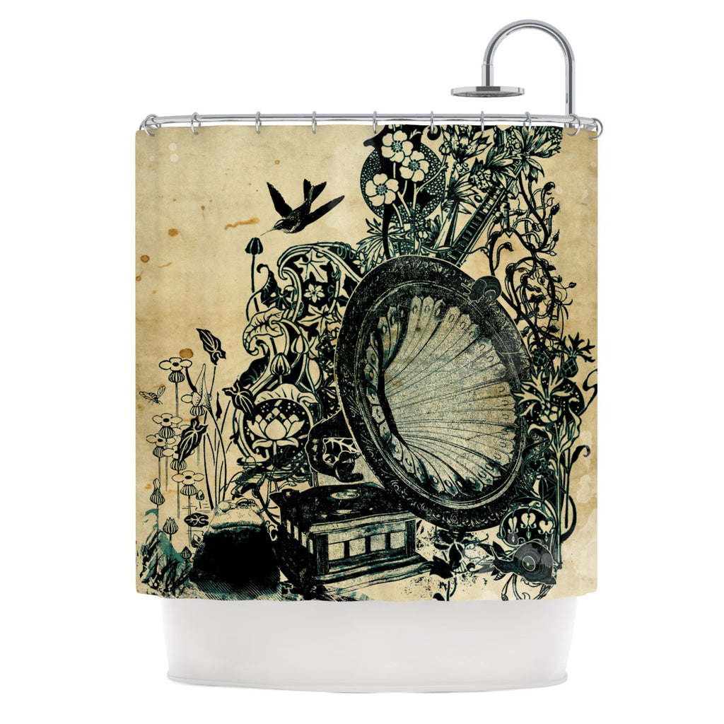 "Frederic Levy-Hadida ""Sound of Nature"" Shower Curtain - KESS InHouse"