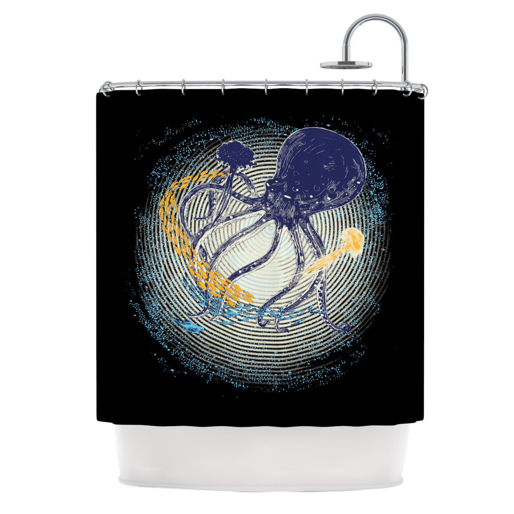 "Frederic Levy-Hadida ""Tentacular Trap"" Octopus Shower Curtain - KESS InHouse"