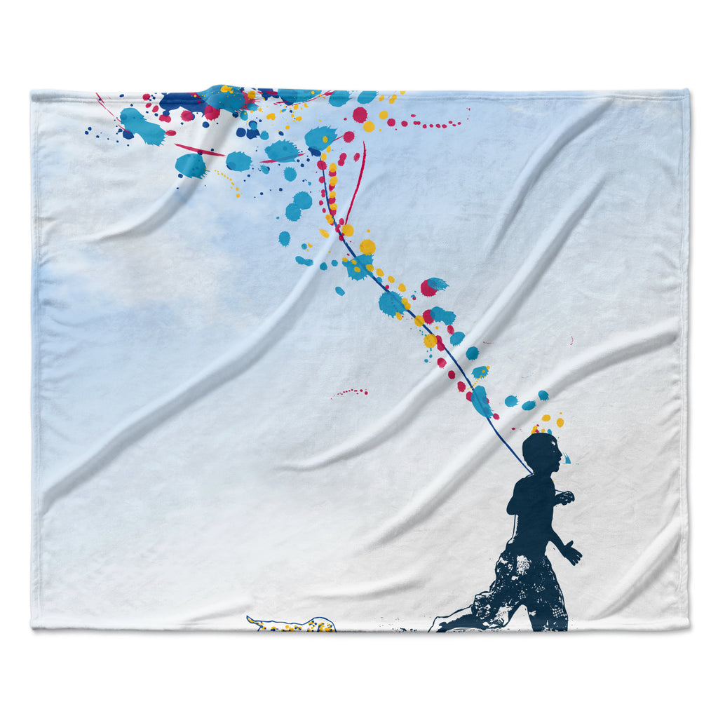 "Frederic Levy-Hadida ""Child Creation Chronicle"" Fleece Throw Blanket"