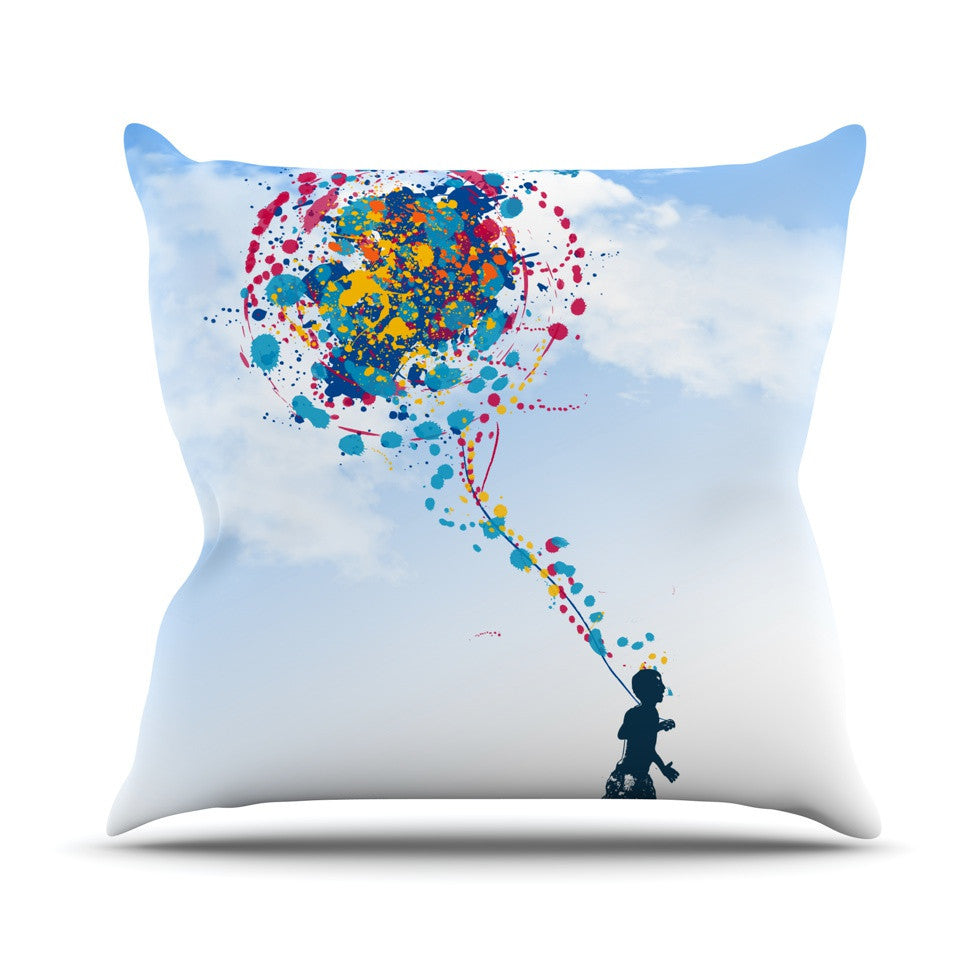 "Frederic Levy-Hadida ""Child Creation Chronicle"" Outdoor Throw Pillow - KESS InHouse  - 1"