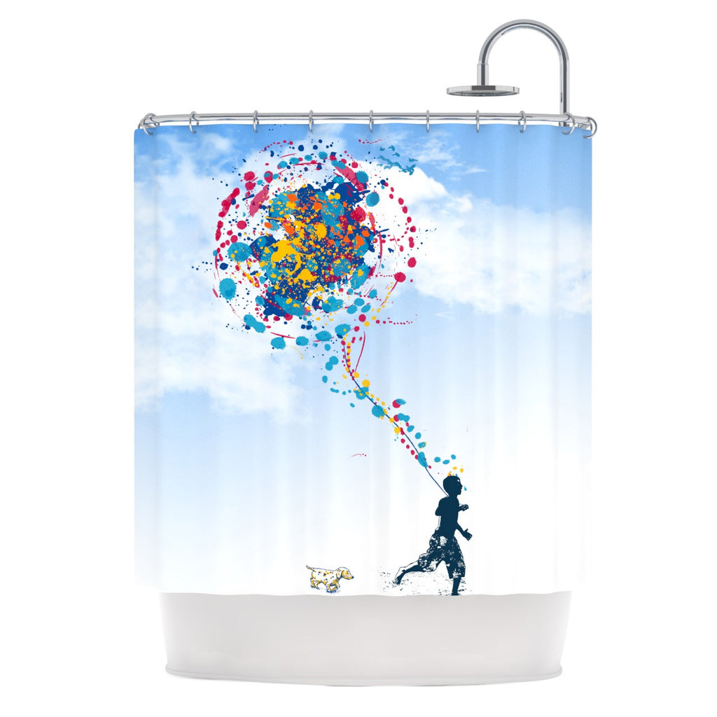 "Frederic Levy-Hadida ""Child Creation Chronicle"" Shower Curtain - KESS InHouse"