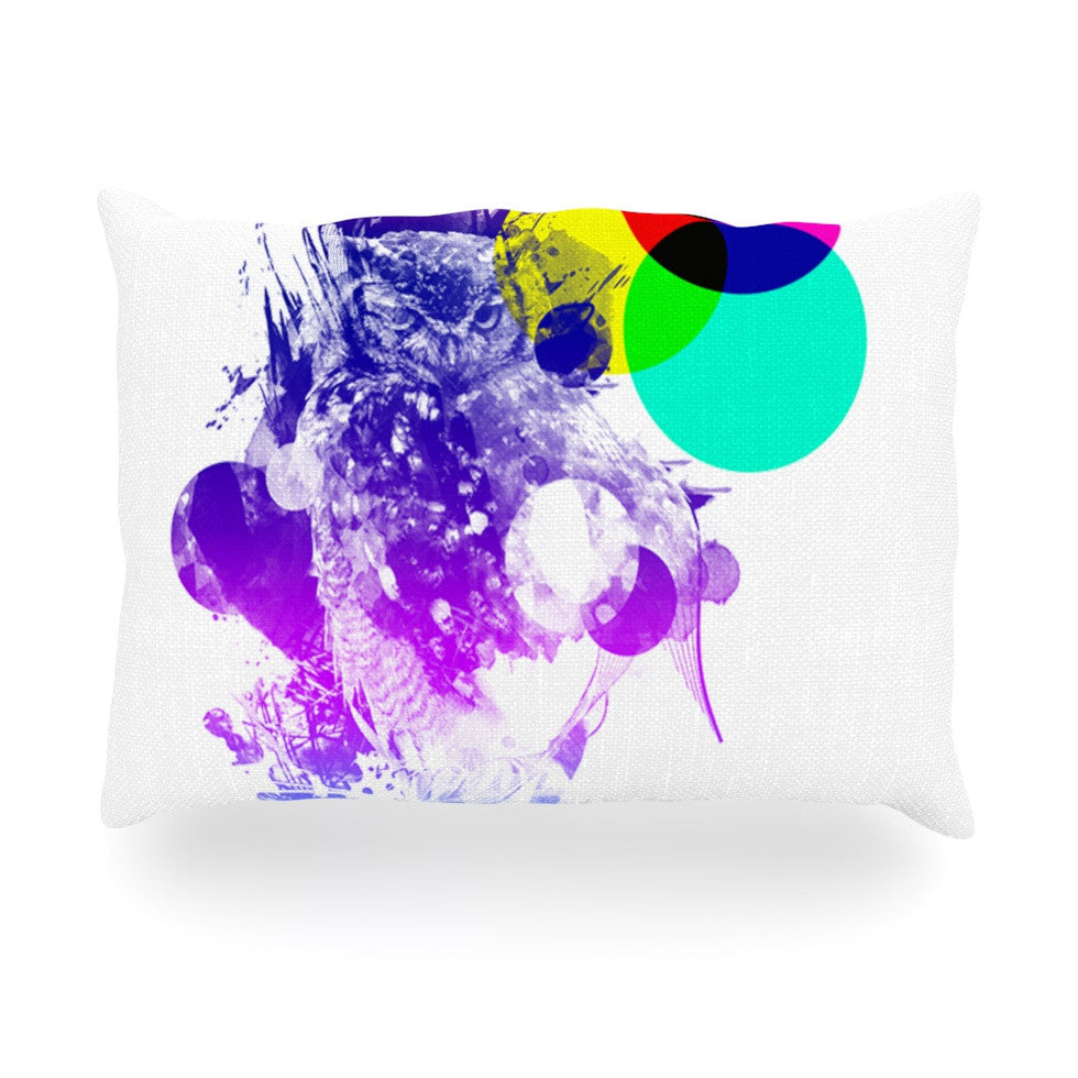 "Frederic Levy-Hadida ""Owl"" Purple Oblong Pillow - KESS InHouse"