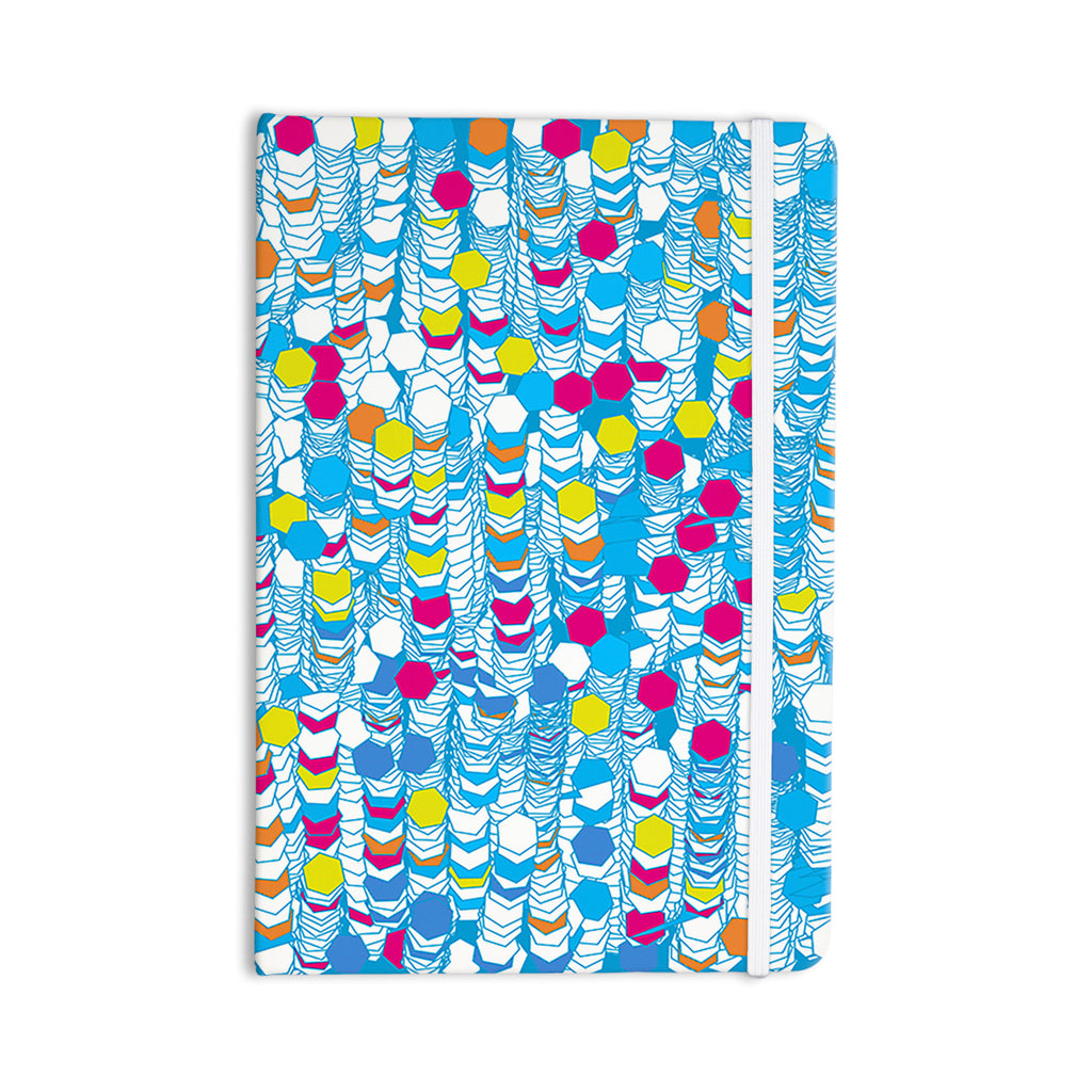 "Frederic Levy-Hadida ""Color Hiving"" Blue Abstract Everything Notebook - KESS InHouse  - 1"