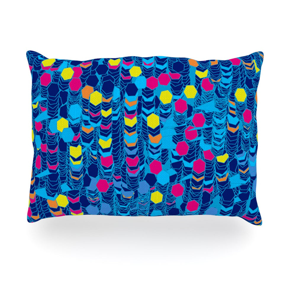 "Frederic Levy-Hadida ""Color Hiving Blue"" Navy Oblong Pillow - KESS InHouse"