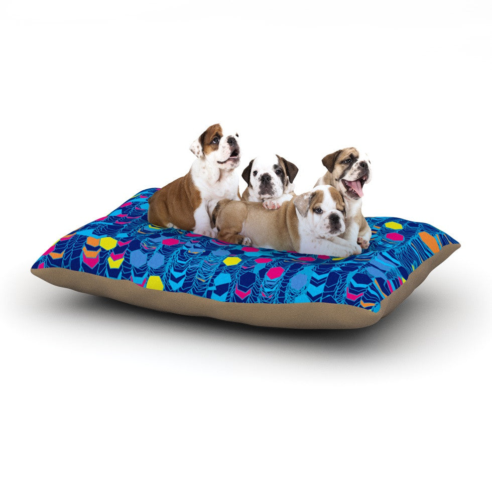 "Frederic Levy-Hadida ""Color Hiving Blue"" Navy Dog Bed - KESS InHouse  - 1"