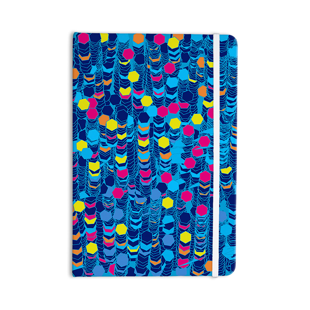 "Frederic Levy-Hadida ""Color Hiving Blue"" Navy Everything Notebook - KESS InHouse  - 1"