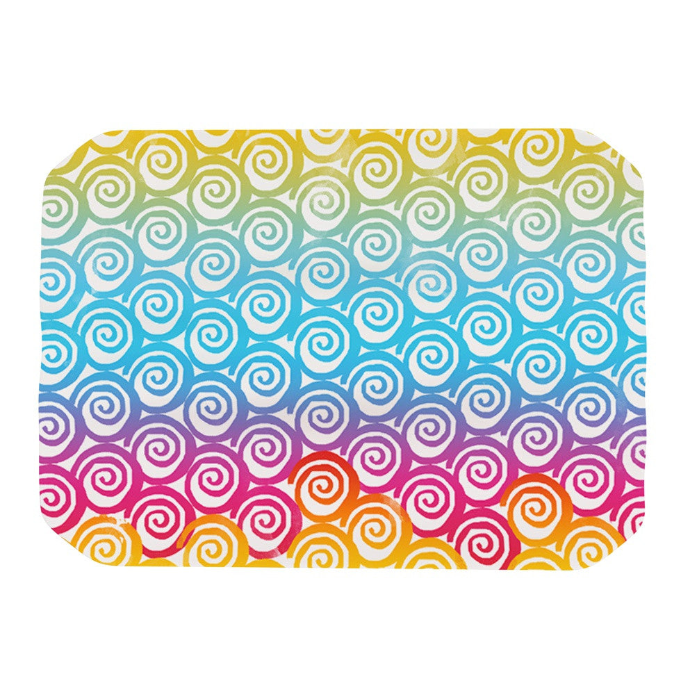 "Frederic Levy-Hadida ""Ethnic Spirals"" Rainbow Place Mat - KESS InHouse"