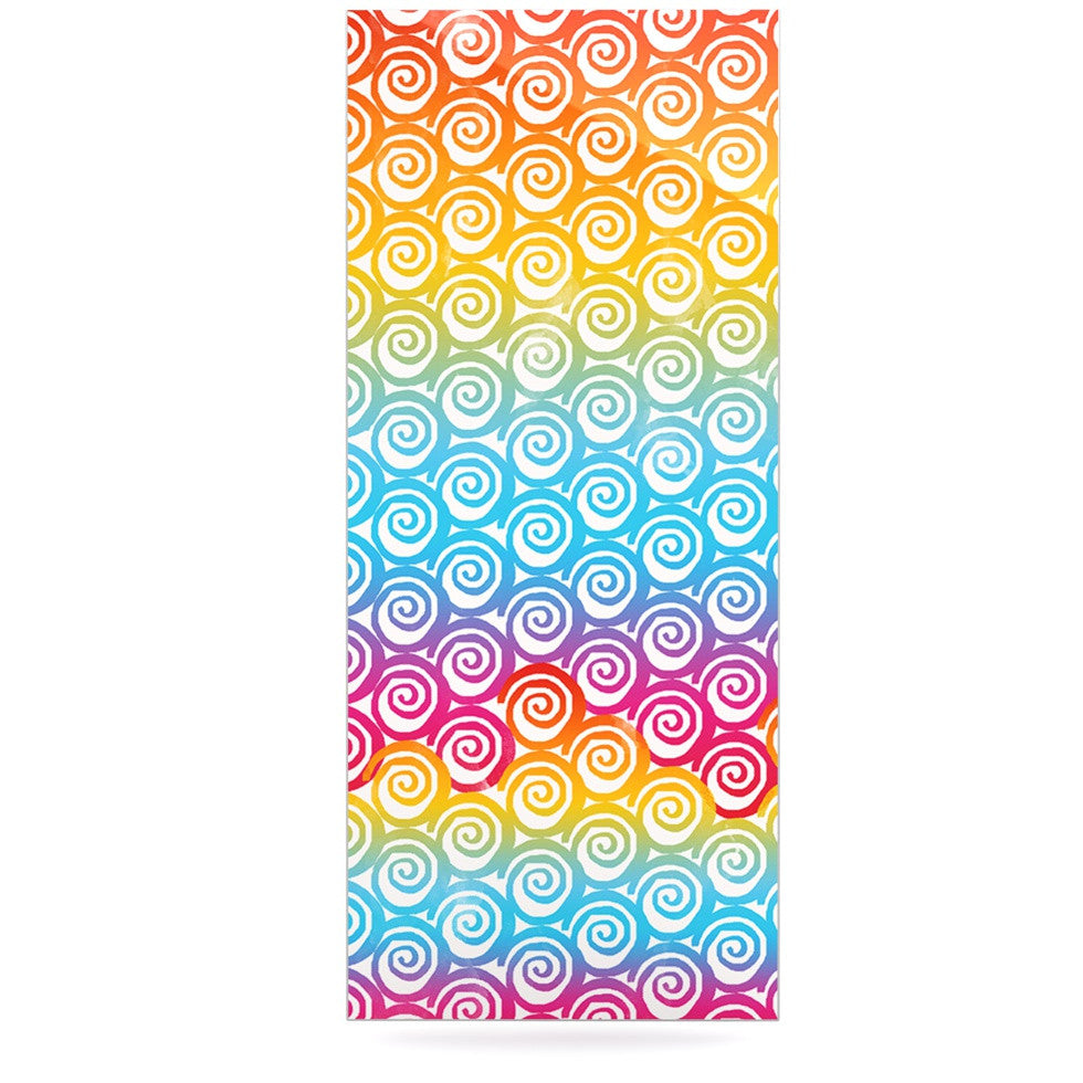 "Frederic Levy-Hadida ""Ethnic Spirals"" Rainbow Luxe Rectangle Panel - KESS InHouse  - 1"