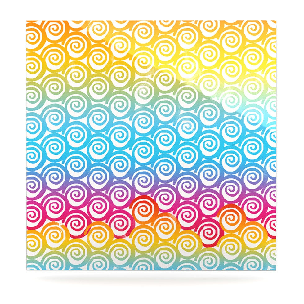 "Frederic Levy-Hadida ""Ethnic Spirals"" Rainbow Luxe Square Panel - KESS InHouse  - 1"