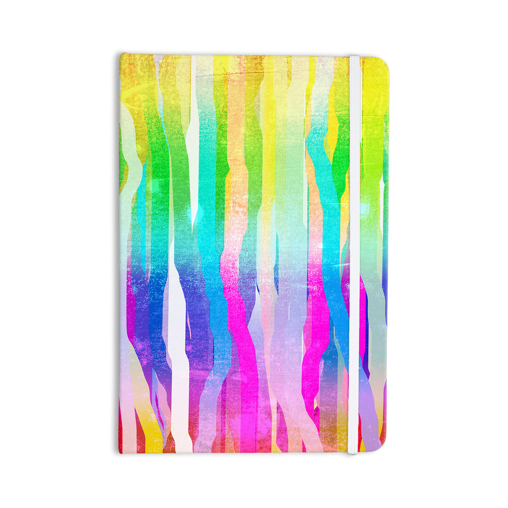 "Frederic Levy-Hadida ""Jungle Stripes Pastel"" Multicolor Painting Everything Notebook - KESS InHouse  - 1"