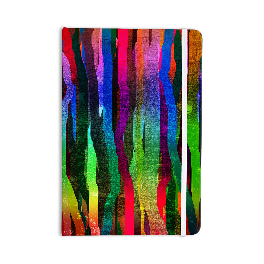 "Frederic Levy-Hadida ""Jungle Stripes II"" Black Rainbow Everything Notebook - KESS InHouse  - 1"