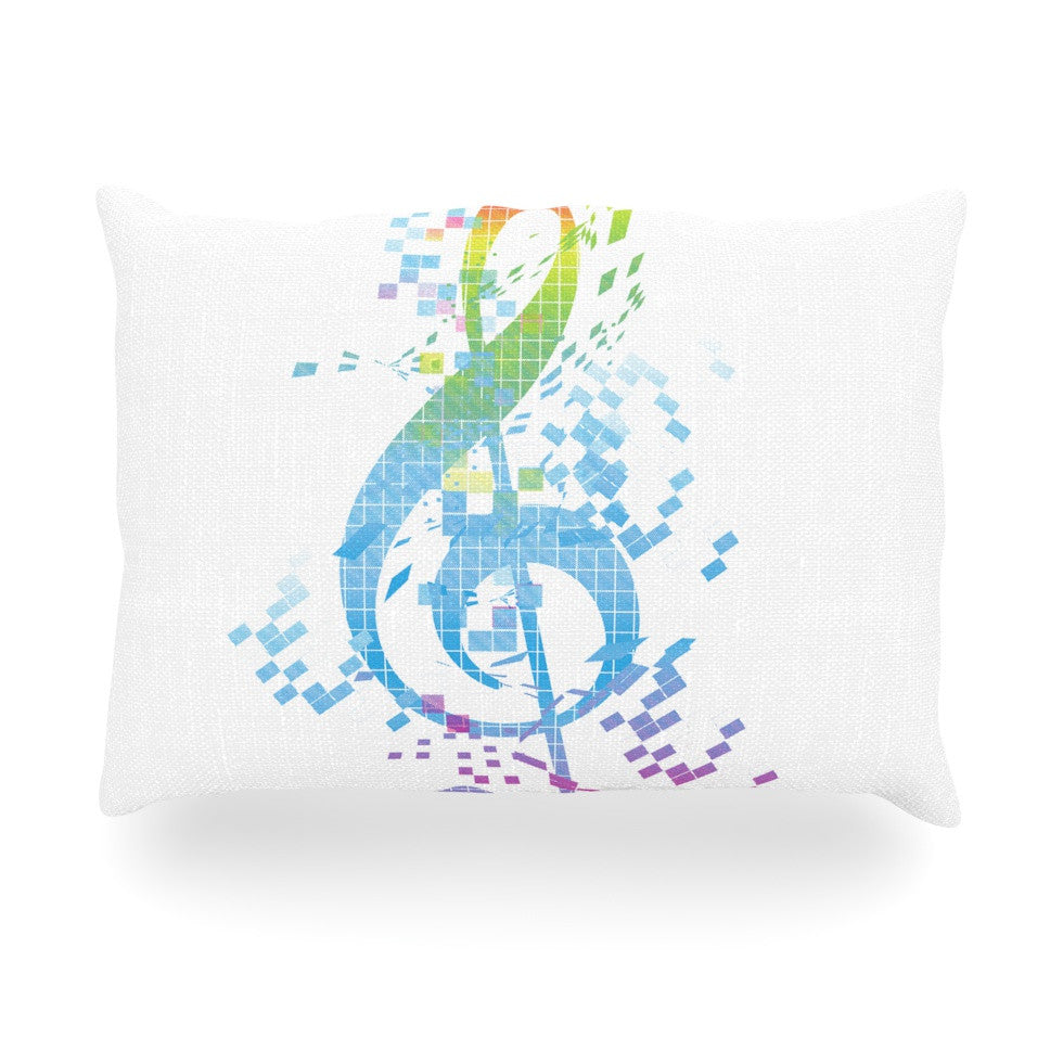 "Frederic Levy-Hadida ""Rainbow Key"" Multicolor Music Oblong Pillow - KESS InHouse"
