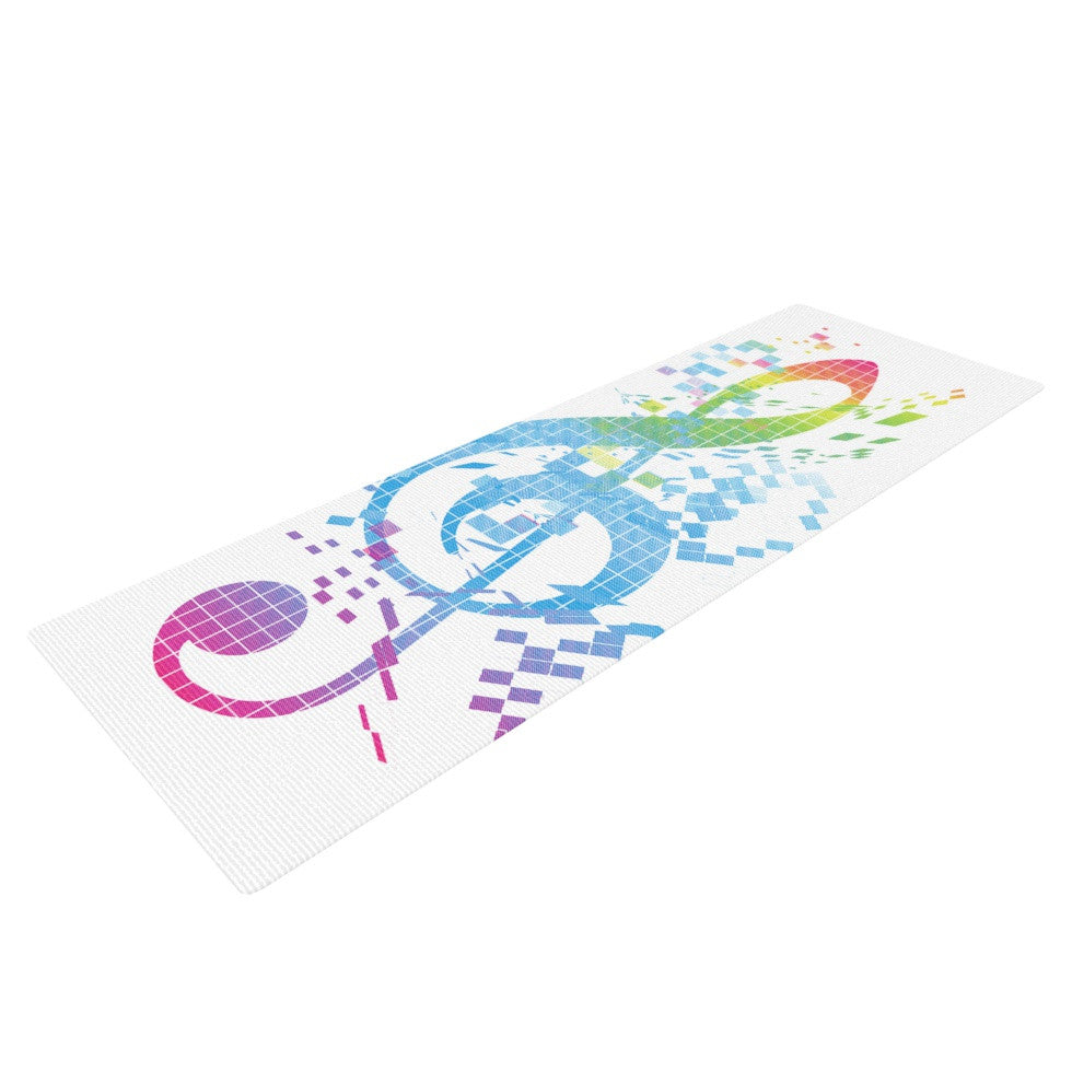 "Frederic Levy-Hadida ""Rainbow Key"" Multicolor Music Yoga Mat - KESS InHouse  - 1"