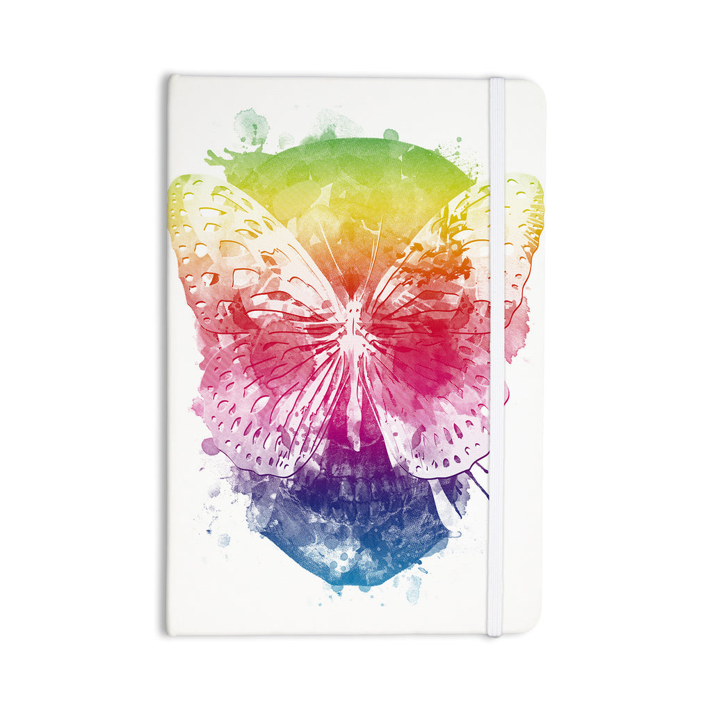 "Frederic Levy-Hadida ""Butterfly Skull"" Rainbow Everything Notebook - KESS InHouse  - 1"