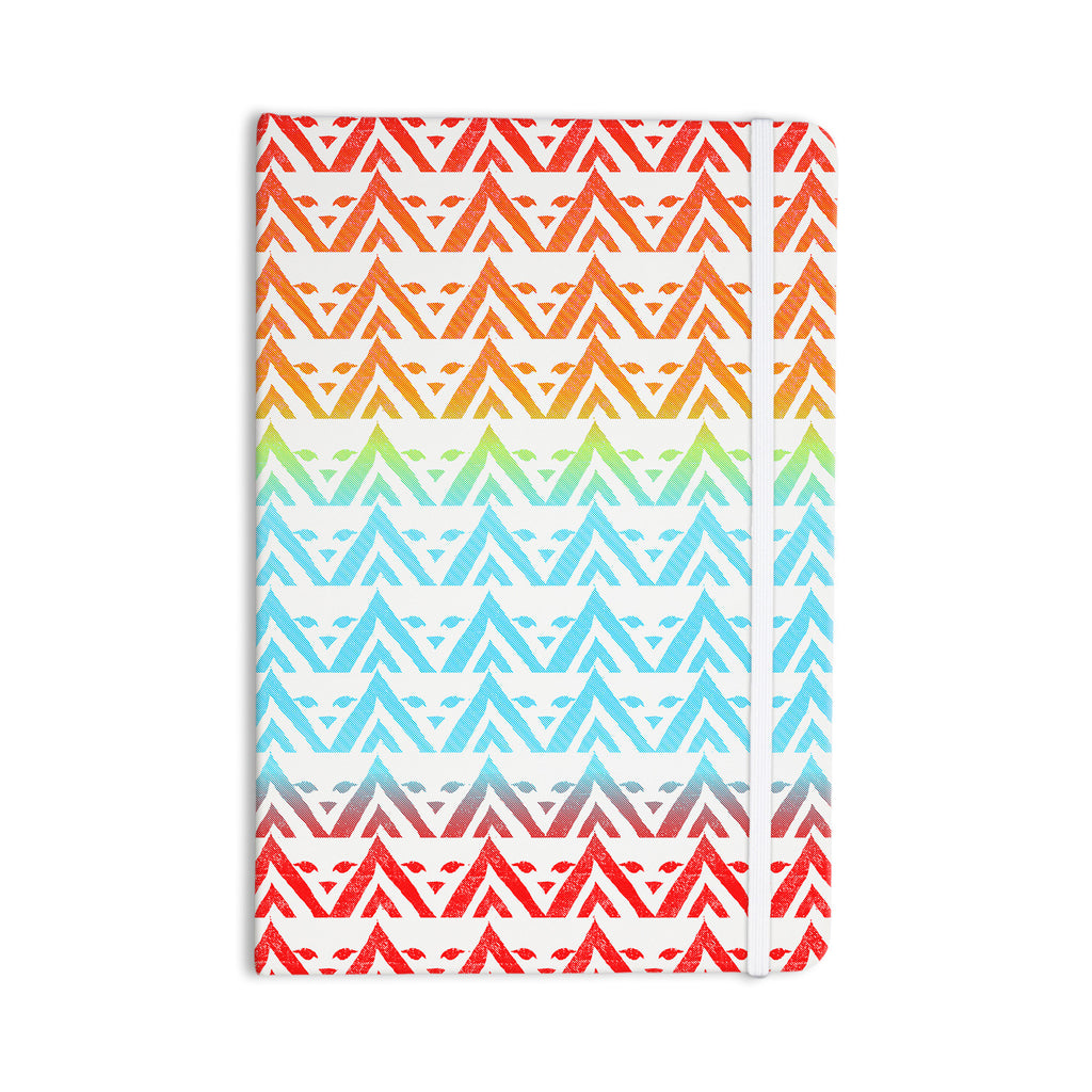 "Frederic Levy-Hadida ""Antilops Pattern"" Multicolor Chevron Everything Notebook - KESS InHouse  - 1"