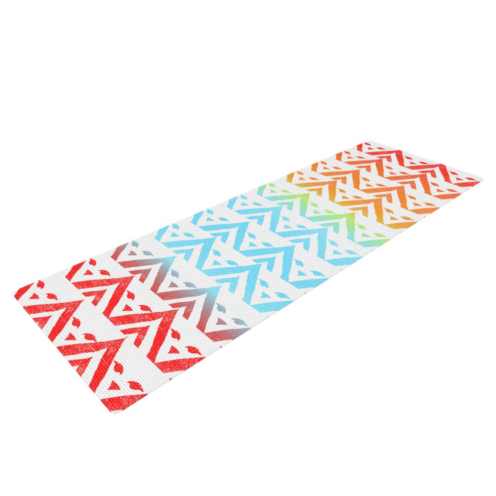 "Frederic Levy-Hadida ""Antilops Pattern"" Multicolor Chevron Yoga Mat - KESS InHouse  - 1"