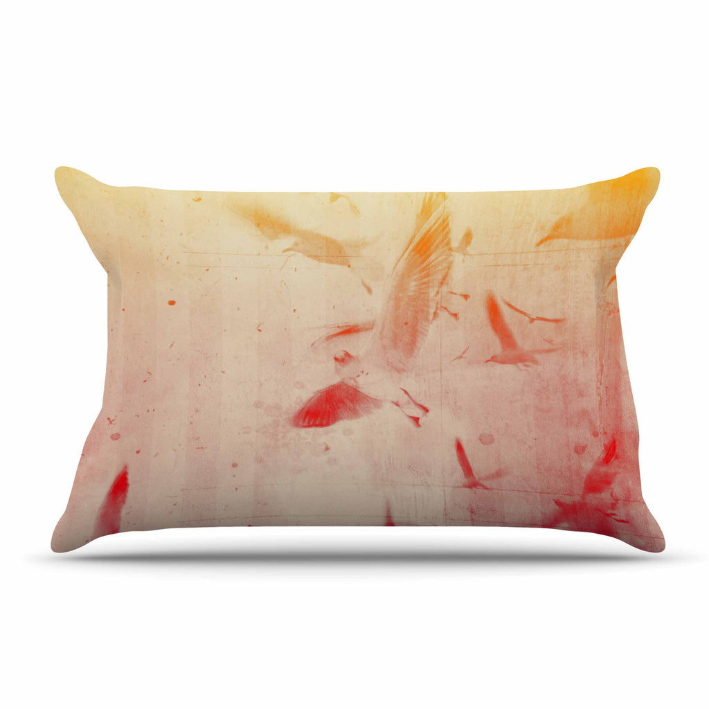 "Frederic Levy-Hadida ""Them Birds"" Orange Purple Pillow Sham"