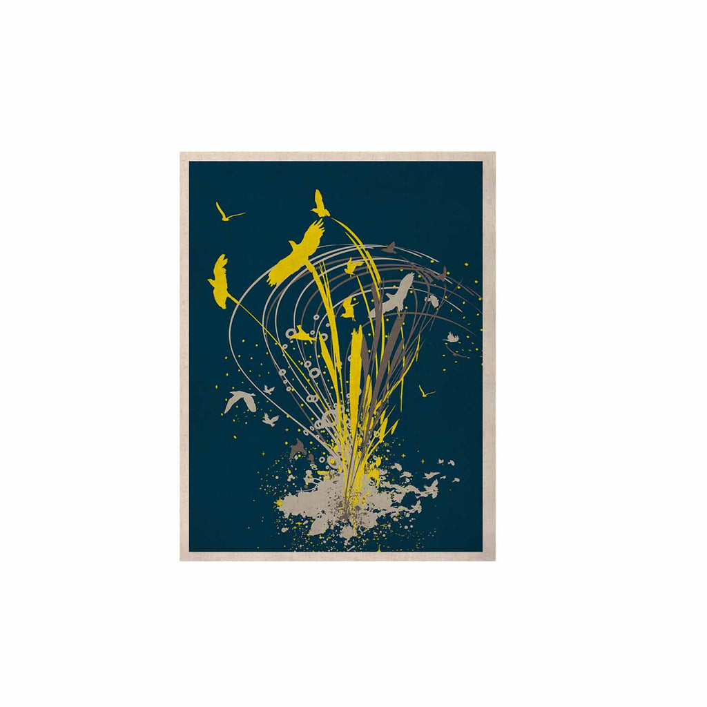 "Frederic Levy-Hadida ""Migratory Patterns"" Blue Yellow KESS Naturals Canvas (Frame not Included) - KESS InHouse  - 1"
