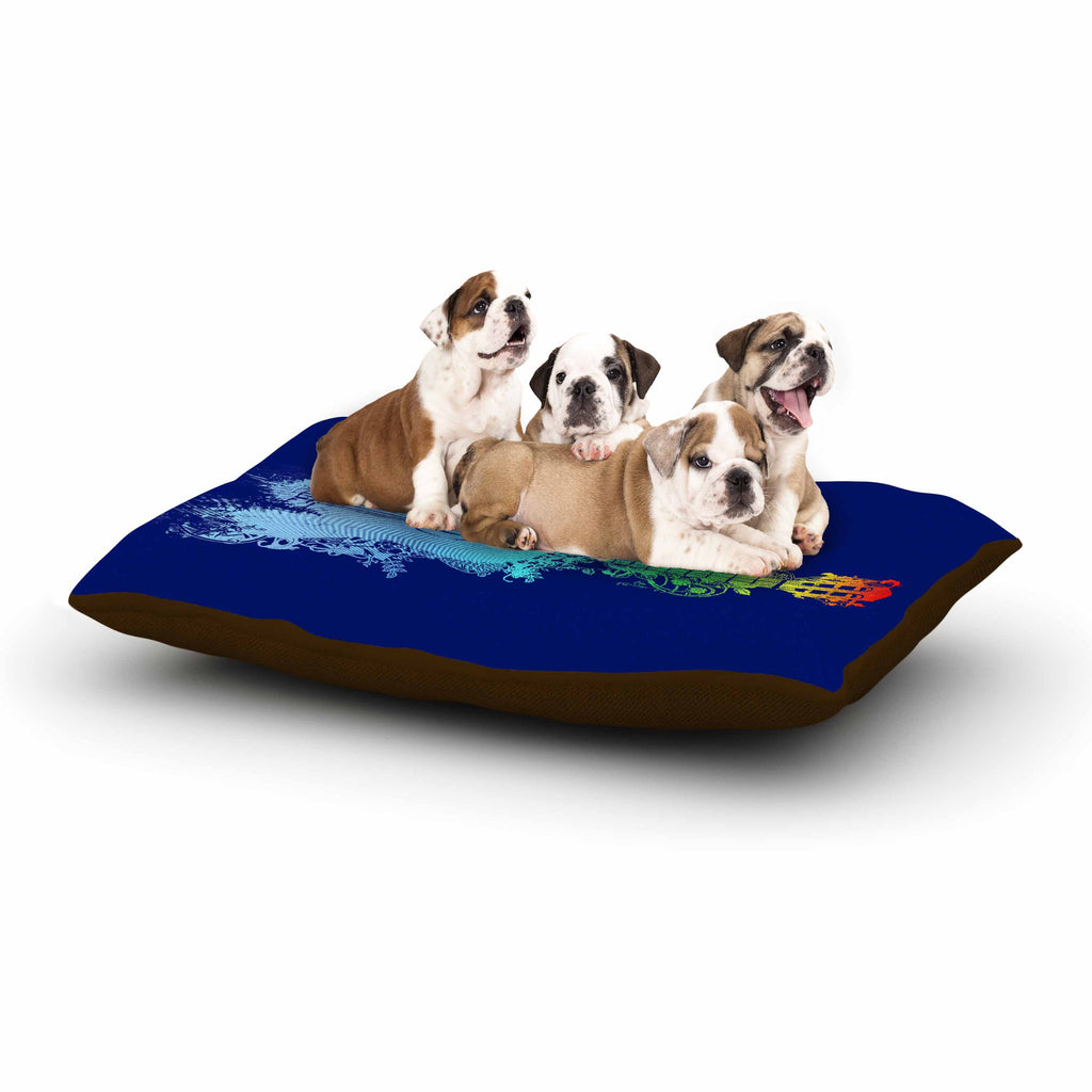 "Frederic Levy-Hadida ""Nature Tune"" Blue Multicolor Dog Bed - KESS InHouse  - 1"
