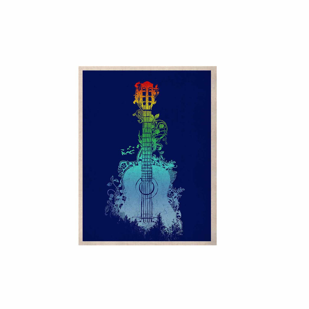 "Frederic Levy-Hadida ""Nature Tune"" Blue Multicolor KESS Naturals Canvas (Frame not Included) - KESS InHouse  - 1"