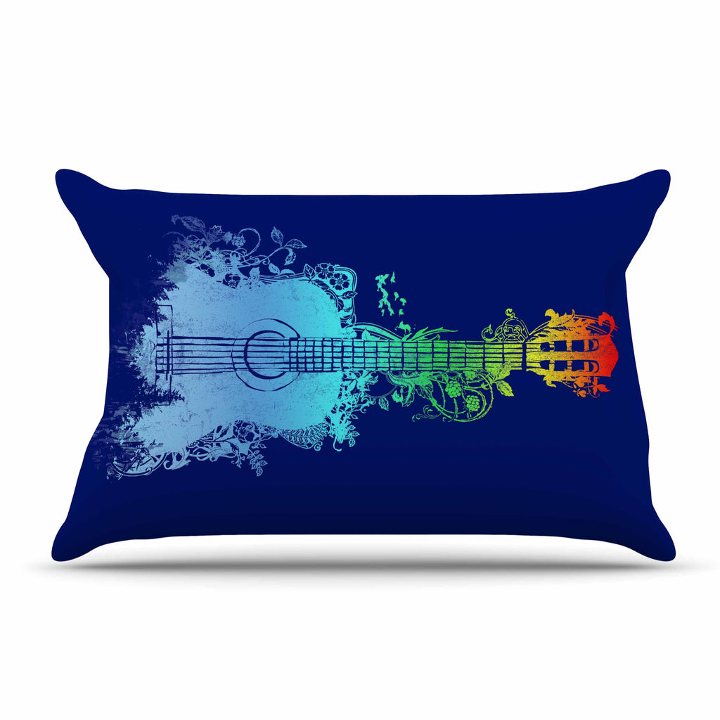 "Frederic Levy-Hadida ""Nature Tune"" Blue Multicolor Pillow Sham"