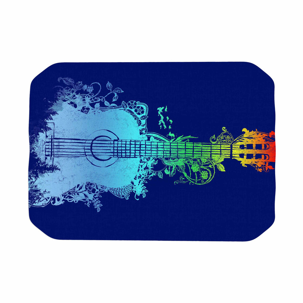 "Frederic Levy-Hadida ""Nature Tune"" Blue Multicolor Place Mat - KESS InHouse"