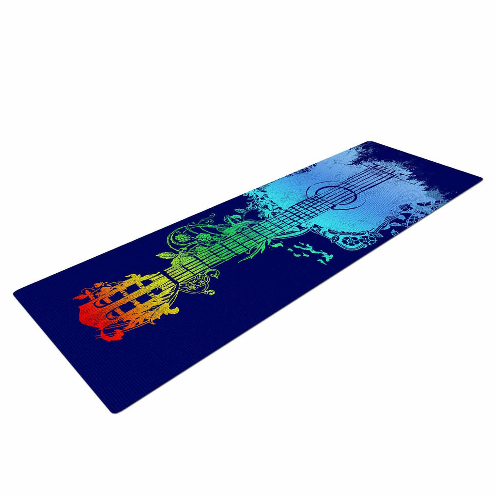 "Frederic Levy-Hadida ""Nature Tune"" Blue Multicolor Yoga Mat - KESS InHouse  - 1"