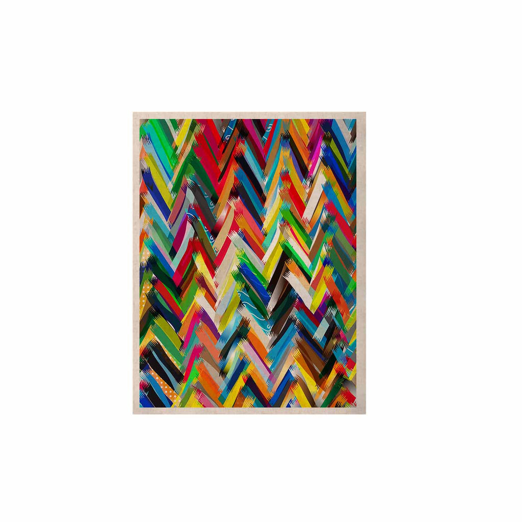 "Frederic Levy-Hadida ""Chevrons"" Rainbow KESS Naturals Canvas (Frame not Included) - KESS InHouse  - 1"