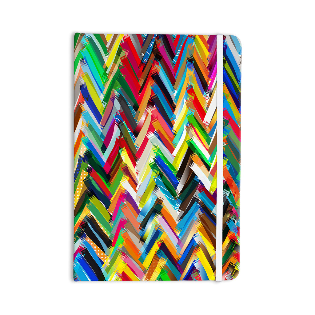 "Frederic Levy-Hadida ""Chevrons"" Rainbow Everything Notebook - KESS InHouse  - 1"