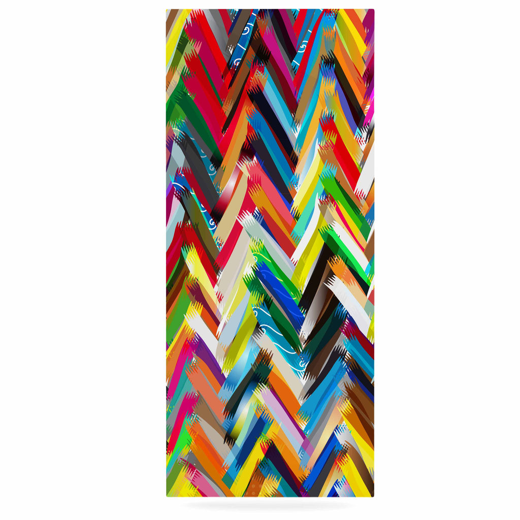"Frederic Levy-Hadida ""Chevrons"" Rainbow Luxe Rectangle Panel - KESS InHouse  - 1"