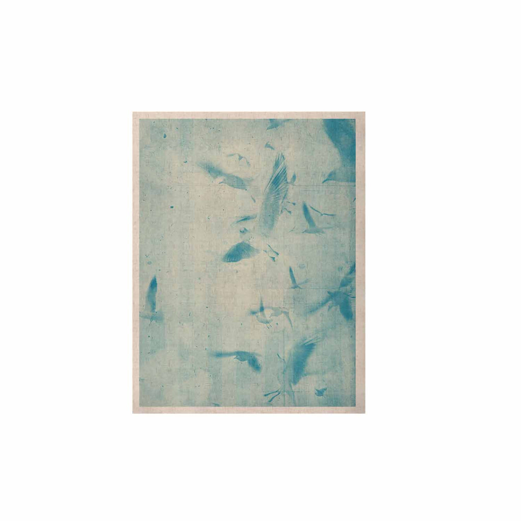 "Frederic Levy-Hadida ""Them Birds - Blue"" Aqua KESS Naturals Canvas (Frame not Included) - KESS InHouse  - 1"