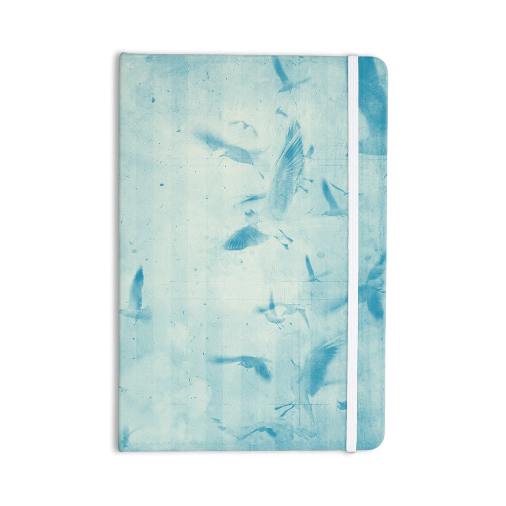 "Frederic Levy-Hadida ""Them Birds - Blue"" Aqua Everything Notebook - KESS InHouse  - 1"