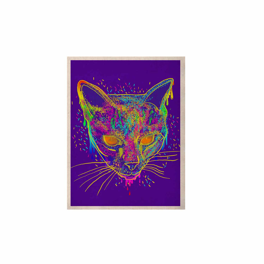 "Frederic Levy-Hadida ""Candy Cat Purple"" Rainbow Purple KESS Naturals Canvas (Frame not Included) - KESS InHouse  - 1"