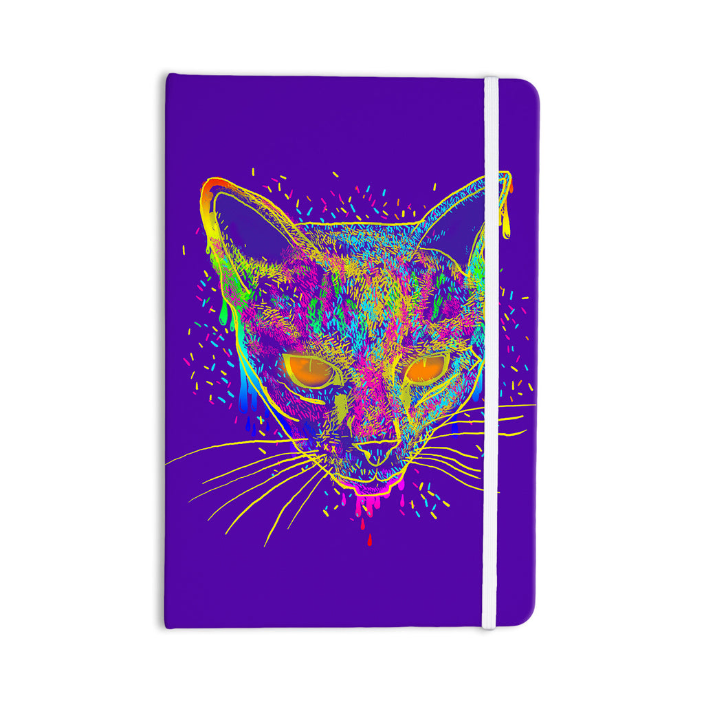 "Frederic Levy-Hadida ""Candy Cat Purple"" Rainbow Purple Everything Notebook - KESS InHouse  - 1"
