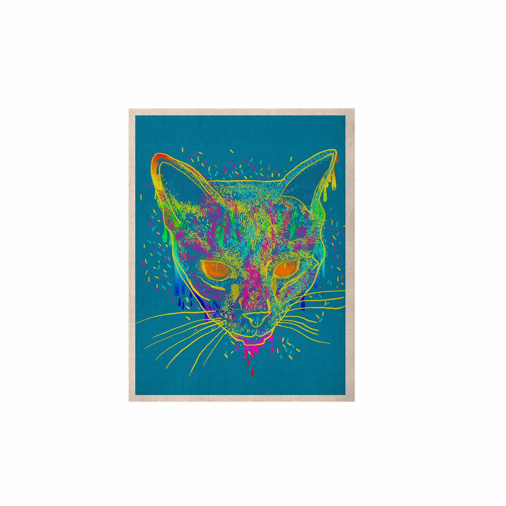 "Frederic Levy-Hadida ""Candy Cat Blue"" Blue Rainbow KESS Naturals Canvas (Frame not Included) - KESS InHouse  - 1"