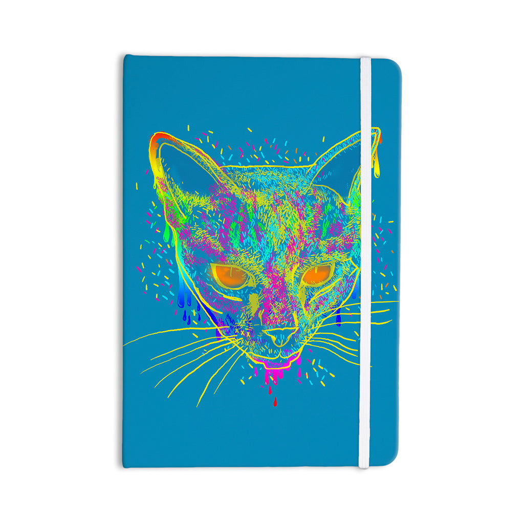 "Frederic Levy-Hadida ""Candy Cat Blue"" Blue Rainbow Everything Notebook - KESS InHouse  - 1"