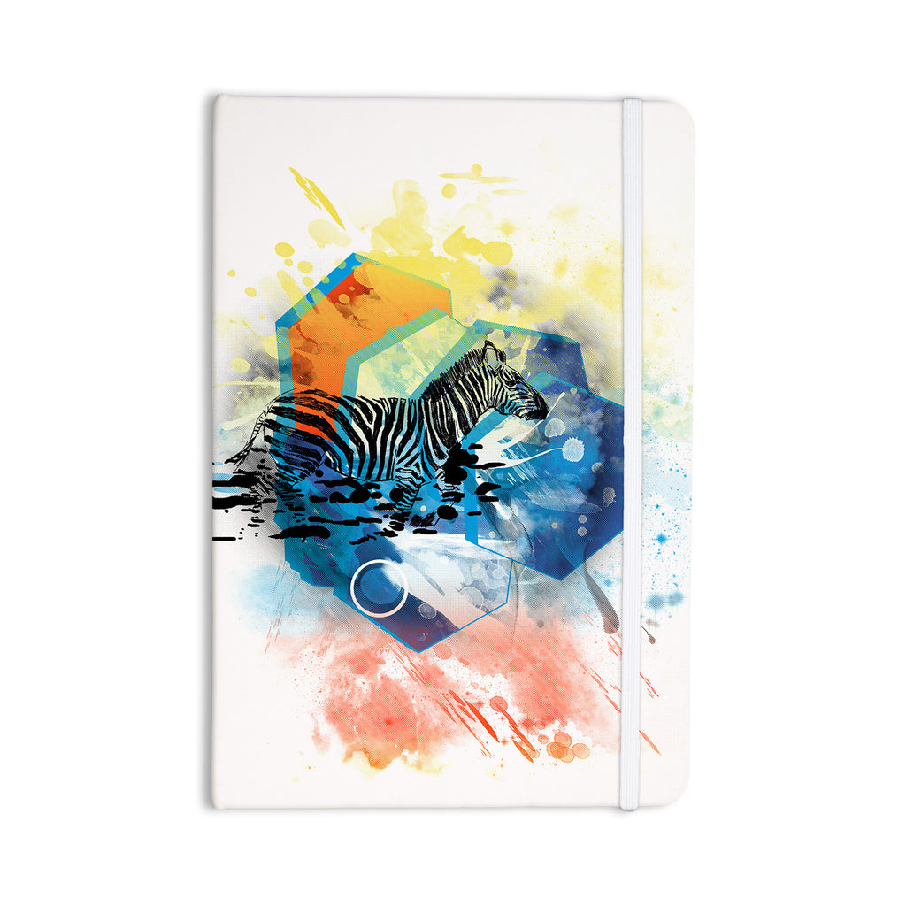 "Frederic Levy-Hadida ""Walk Off The Colors"" Multicolor Zebra Everything Notebook - KESS InHouse  - 1"