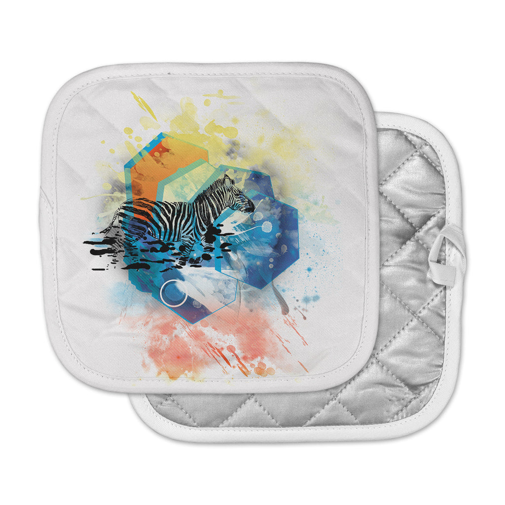 "Frederic Levy-Hadida ""Walk Off The Colors"" Multicolor Zebra Pot Holder"