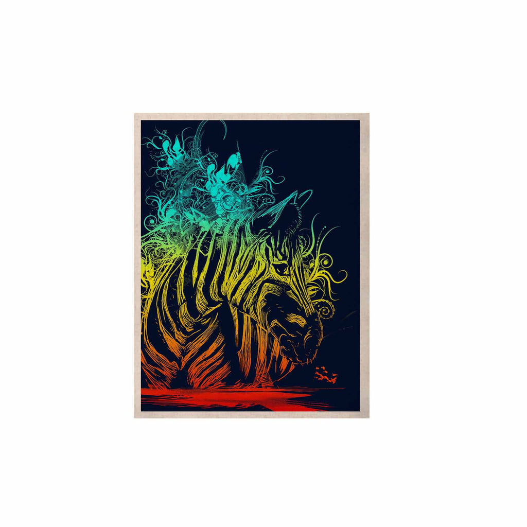 "Frederic Levy-Hadida ""Wild Nature"" Rainbow Zebra KESS Naturals Canvas (Frame not Included) - KESS InHouse  - 1"