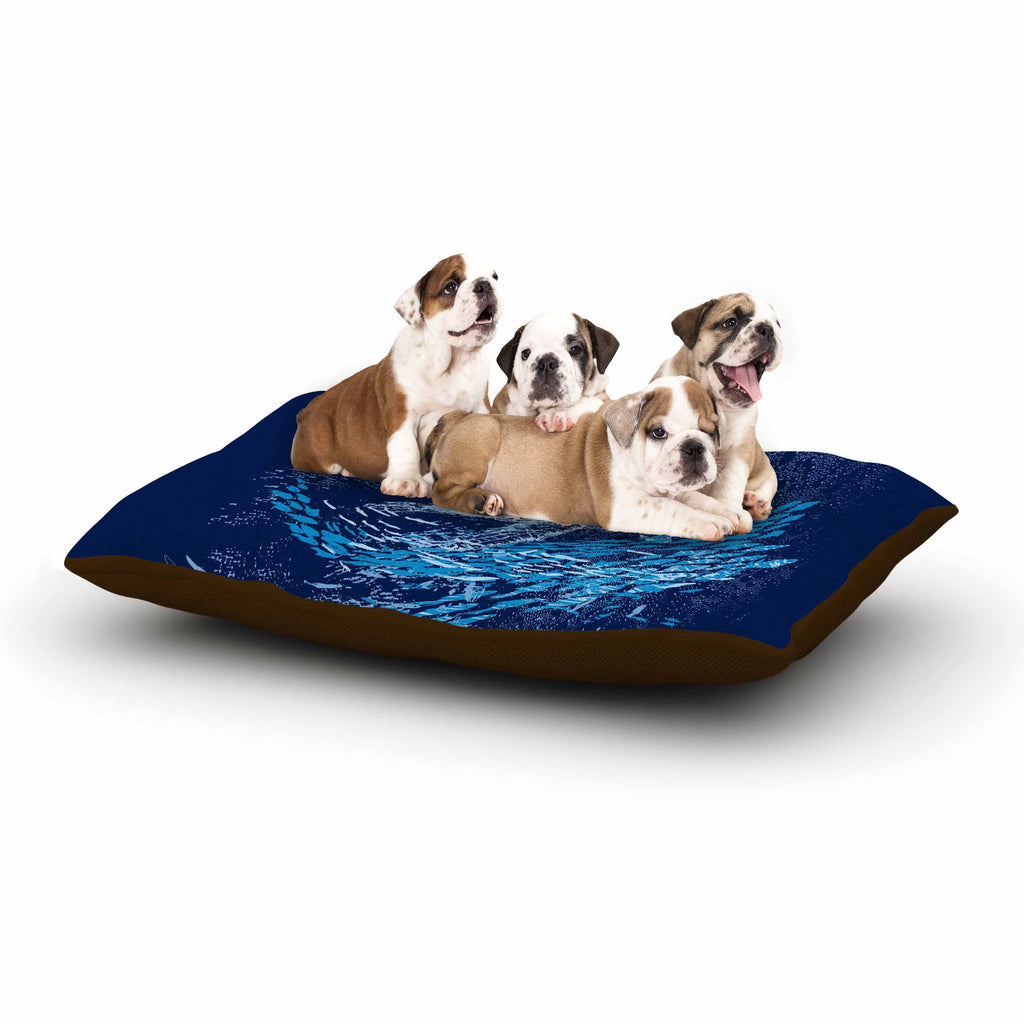 "Frederic Levy-Hadida ""The Turtle Way"" Aqua Blue Dog Bed - KESS InHouse  - 1"