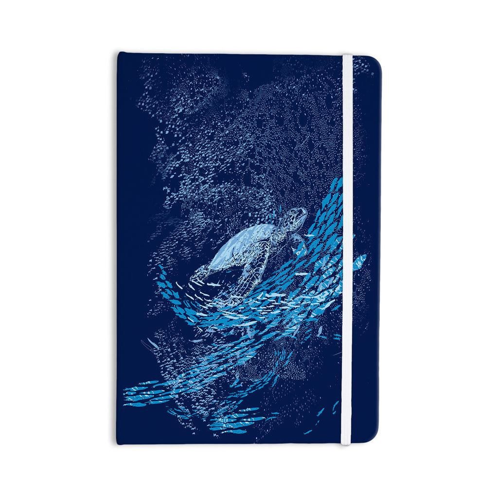 "Frederic Levy-Hadida ""The Turtle Way"" Aqua Blue Everything Notebook - KESS InHouse  - 1"