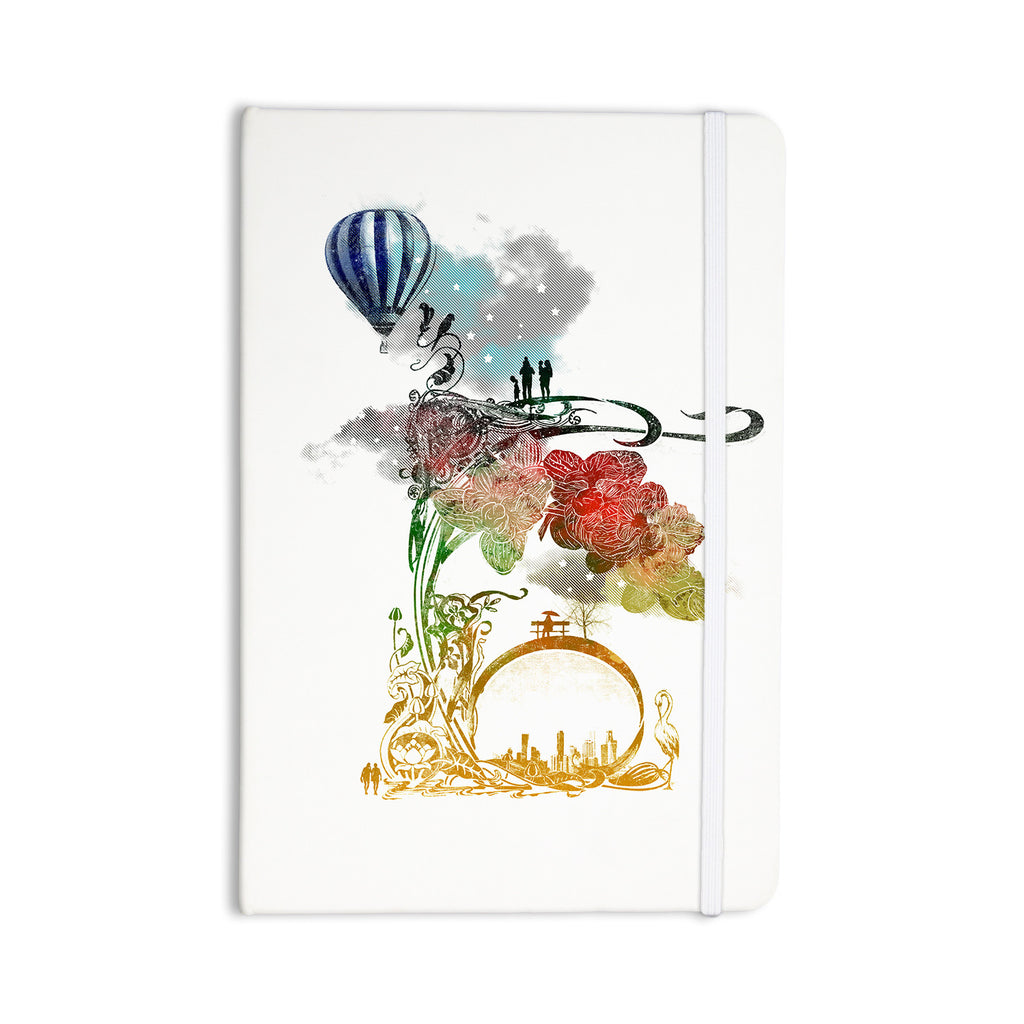 "Frederic Levy-Hadida ""A Little Paradise"" White Multicolor Everything Notebook - KESS InHouse  - 1"