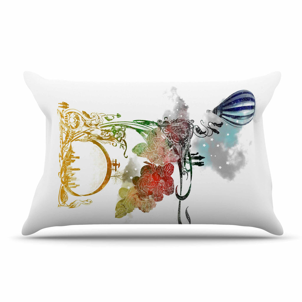 "Frederic Levy-Hadida ""A Little Paradise"" White Multicolor Pillow Sham - KESS InHouse"