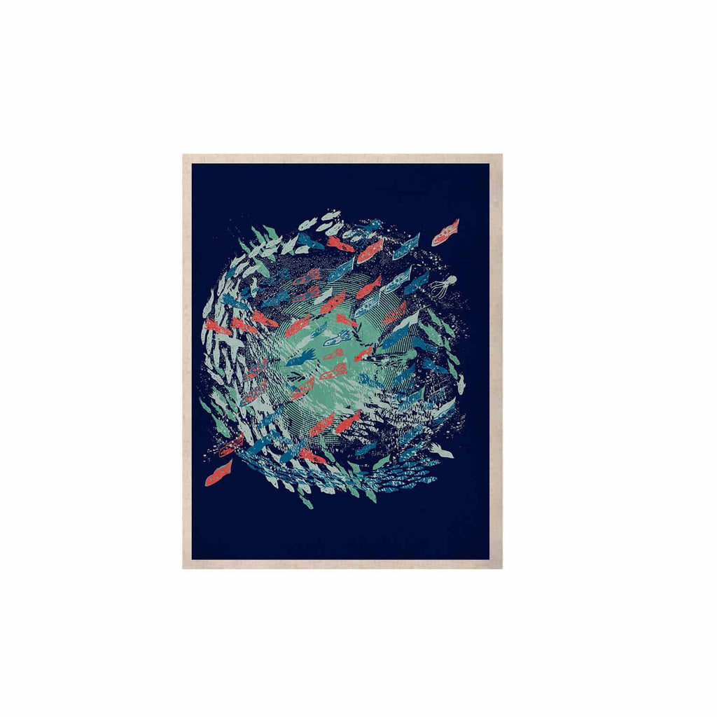 "Frederic Levy-Hadida ""Underwater Life - Blue"" Blue Fish KESS Naturals Canvas (Frame not Included) - KESS InHouse  - 1"