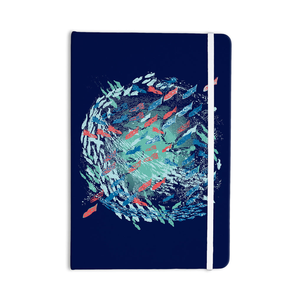 "Frederic Levy-Hadida ""Underwater Life - Blue"" Blue Fish Everything Notebook - KESS InHouse  - 1"