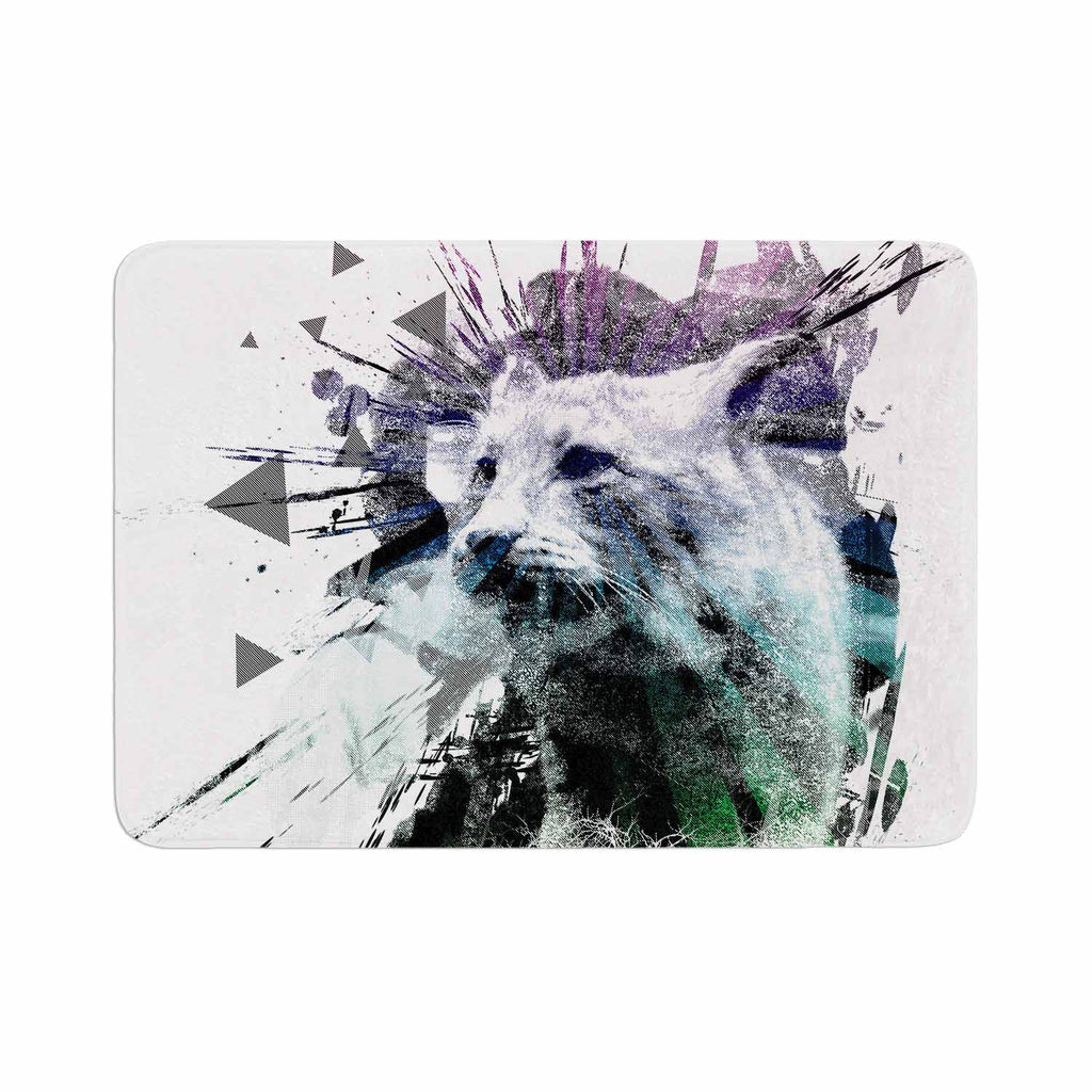"Frederic Levy-Hadida ""Predation Instinct"" Multicolor Cat Memory Foam Bath Mat - KESS InHouse"