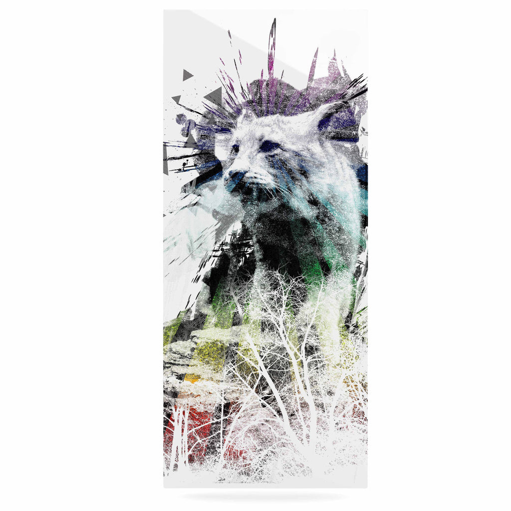 "Frederic Levy-Hadida ""Predation Instinct"" Multicolor Cat Luxe Rectangle Panel - KESS InHouse  - 1"