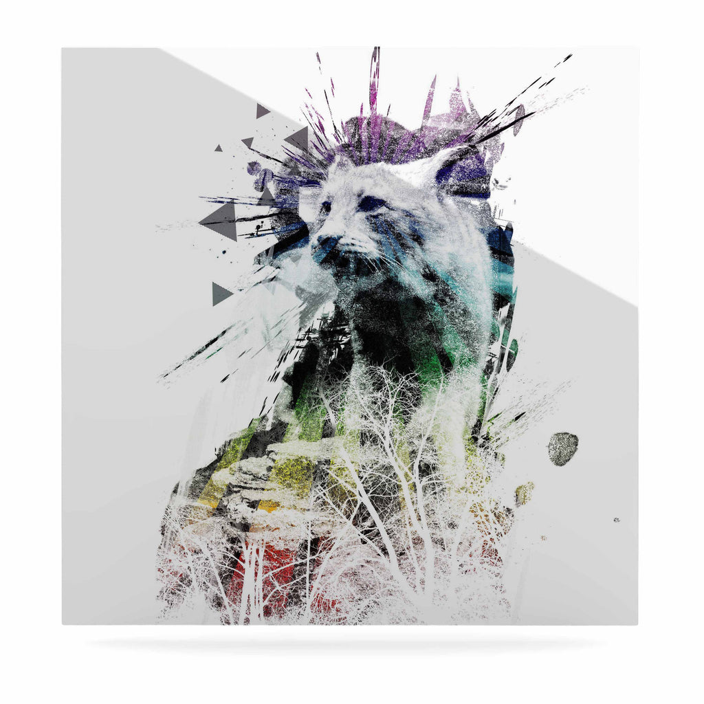 "Frederic Levy-Hadida ""Predation Instinct"" Multicolor Cat Luxe Square Panel - KESS InHouse  - 1"