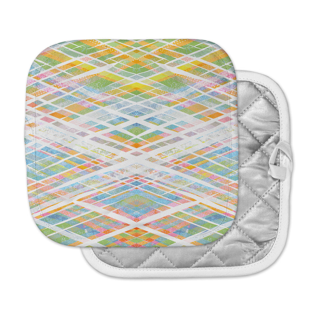 "Frederic Levy-Hadida ""Losanges 2"" Pastel Blue Digital Pot Holder"