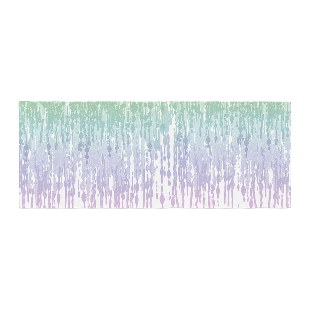 "Frederic Levy-Hadida ""Rainbow Drops"" Pastel Blue Digital Bed Runner - KESS InHouse  - 1"